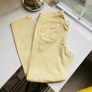 Madewell pale yellow skinny jeans size 8